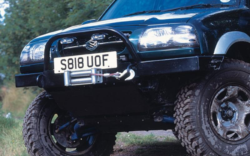 Custom Front Winch Bumper Means Better Approach Angle Original Suzuki Vitaras